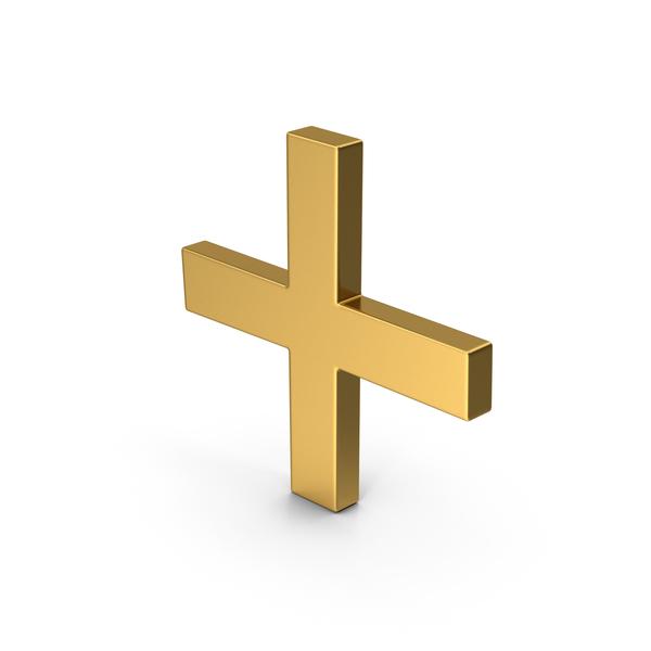 Logo: Symbol Plus Gold PNG & PSD Images