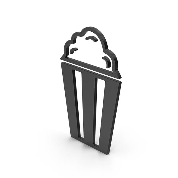 Symbol Popcorn Black PNG & PSD Images
