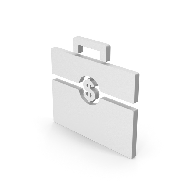 Computer Icon: Symbol Portfolio White PNG & PSD Images