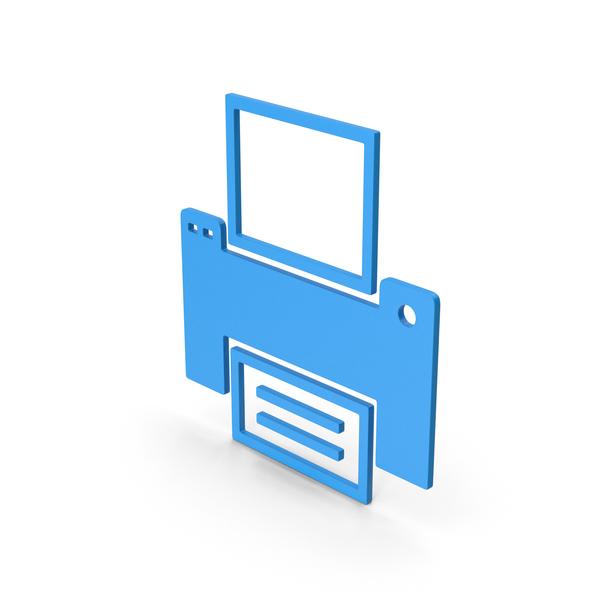 Symbols: Symbol Printer Blue PNG & PSD Images