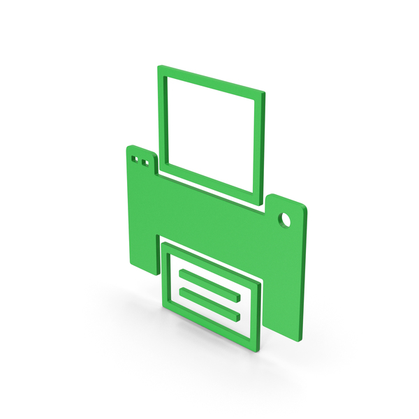 Symbol Printer Green PNG & PSD Images