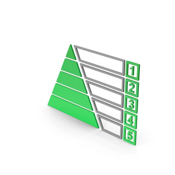 Symbol Pyramid Graph Chart Green PNG & PSD Images