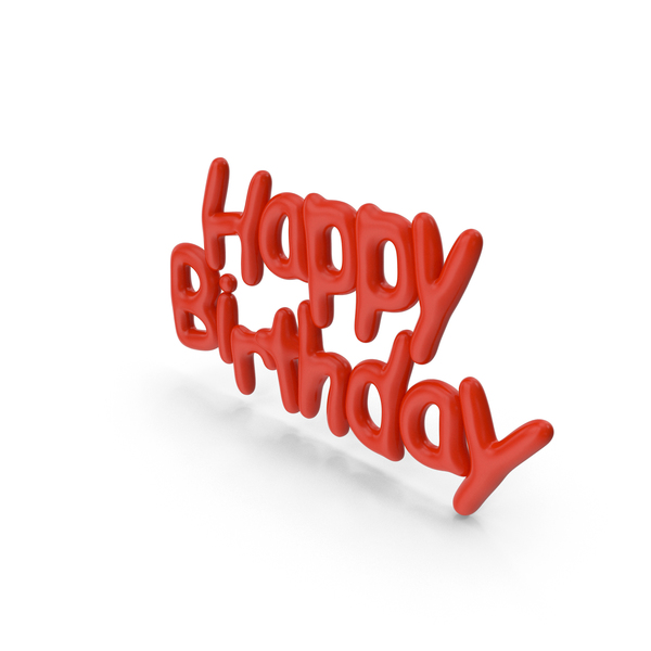Symbol Red Happy Birthday PNG & PSD Images