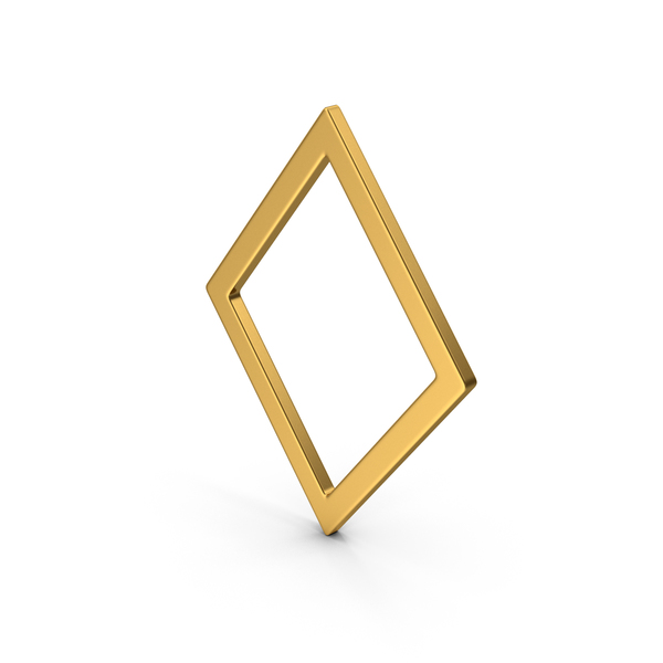 Symbol Rhombus Gold PNG & PSD Images