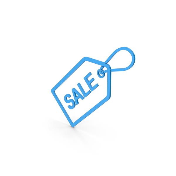 Logo: Symbol Sale Label Blue PNG & PSD Images