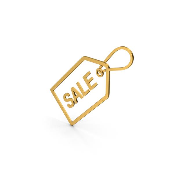 Logo: Symbol Sale Label Gold PNG & PSD Images