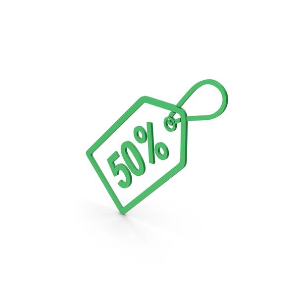 Logo: Symbol Sale Label Green PNG & PSD Images