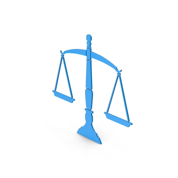 Computer Icon: Symbol Scales Of Justice Blue PNG & PSD Images