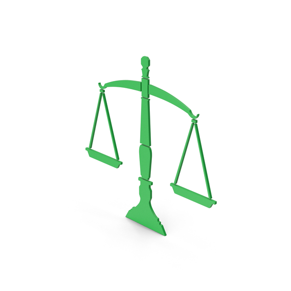 Computer Icon: Symbol Scales Of Justice Green PNG & PSD Images