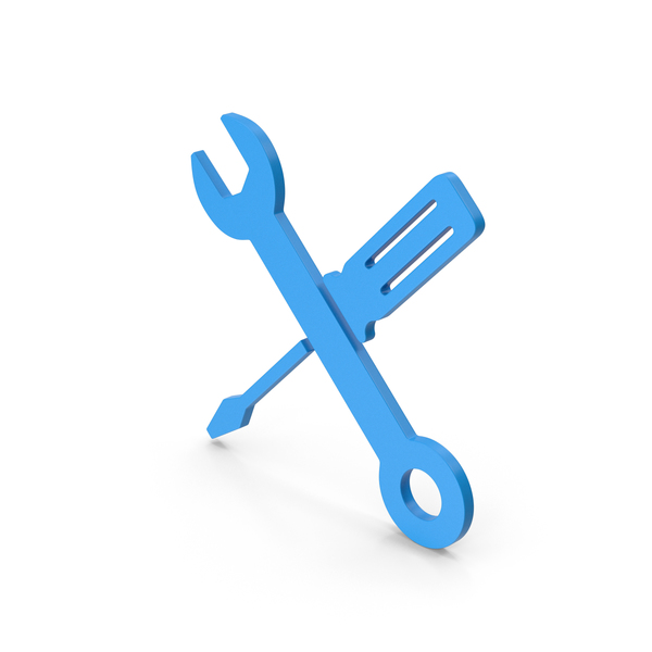 Logo: Symbol Screwdriver And Wrench Blue PNG & PSD Images