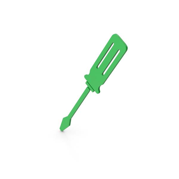 Symbols: Symbol Screwdriver Green PNG & PSD Images