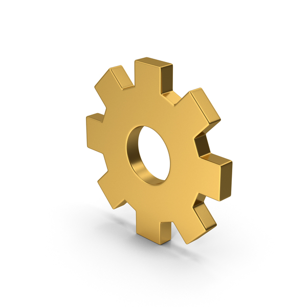 Computer Icon: Symbol Settings Gold PNG & PSD Images