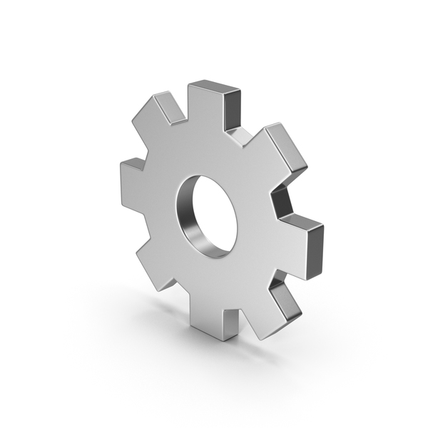 Computer Icon: Symbol Settings Silver PNG & PSD Images