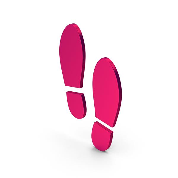 Logo: Symbol Shoe Footprint Metallic PNG & PSD Images