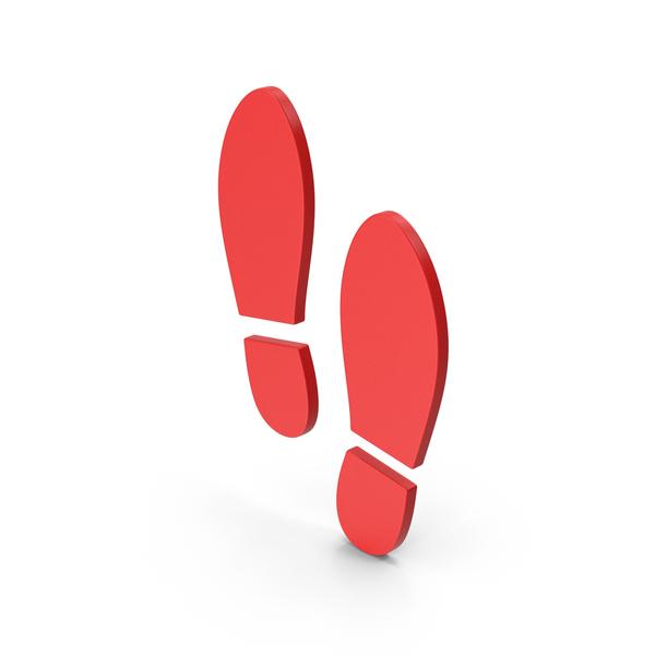 Logo: Symbol Shoe Footprint Red PNG & PSD Images