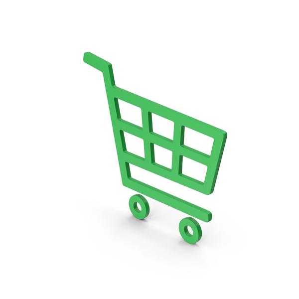 Symbol Shopping Cart Green PNG & PSD Images