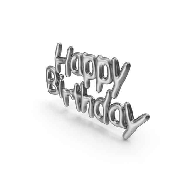 Symbol Silver Happy Birthday PNG & PSD Images