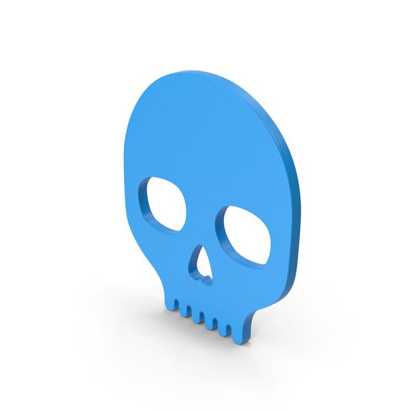 Symbol Skull Blue PNG & PSD Images