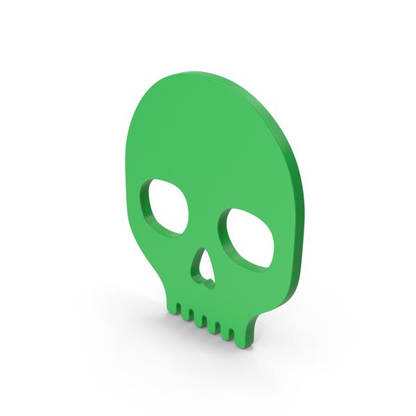 Symbol Skull Green PNG & PSD Images
