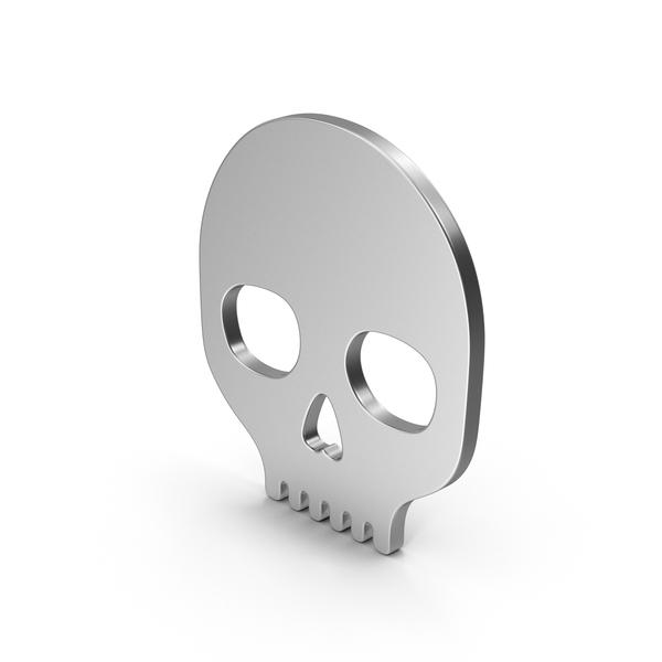 Symbol Skull Silver PNG & PSD Images