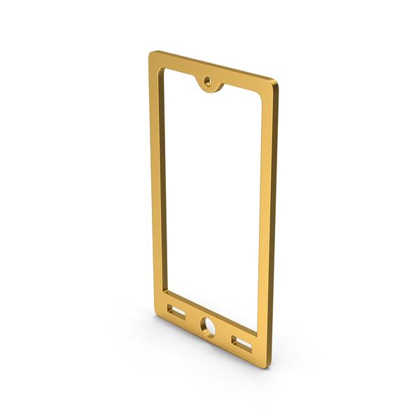 Logo: Symbol Smart Phone Gold PNG & PSD Images