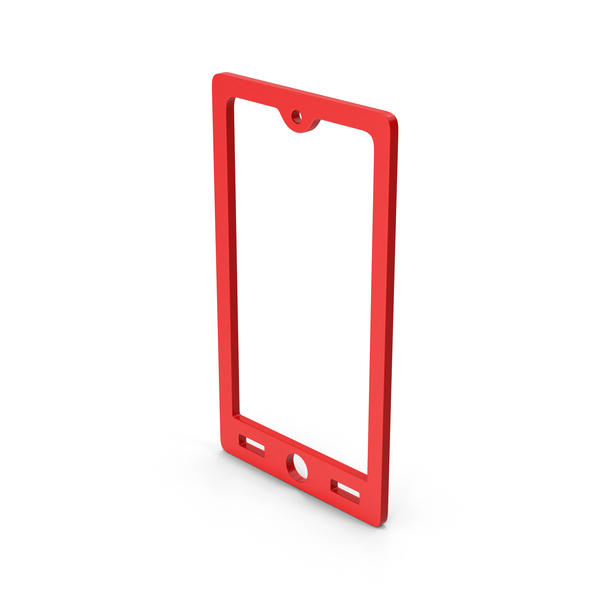 Computer Icon: Symbol Smart Phone Red PNG & PSD Images