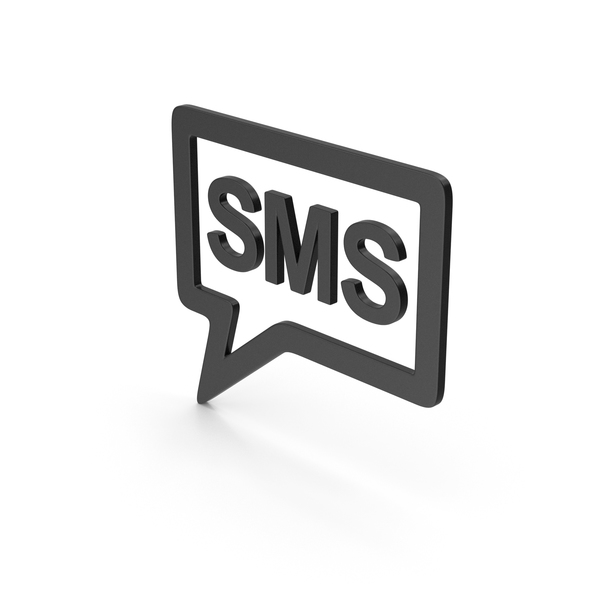 Computer Icon: Symbol SMS Message Black PNG & PSD Images