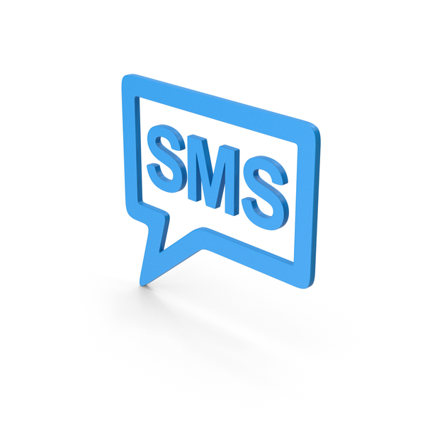 Computer Icon: Symbol SMS Message Blue PNG & PSD Images