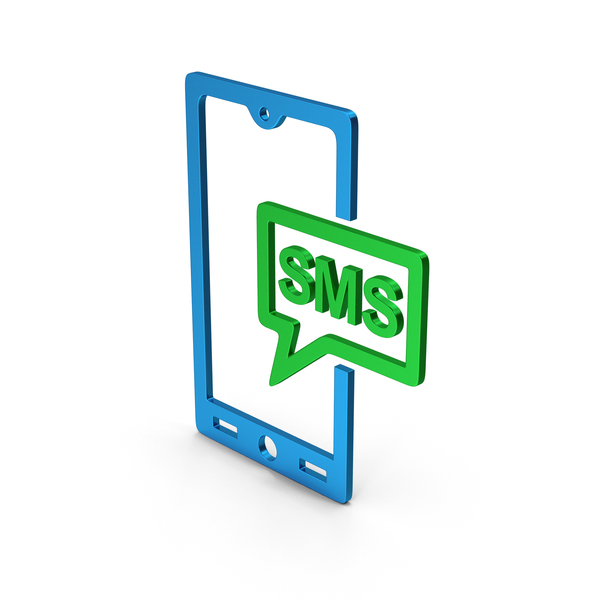 Computer Icon: Symbol SMS Message Colored Metallic PNG & PSD Images