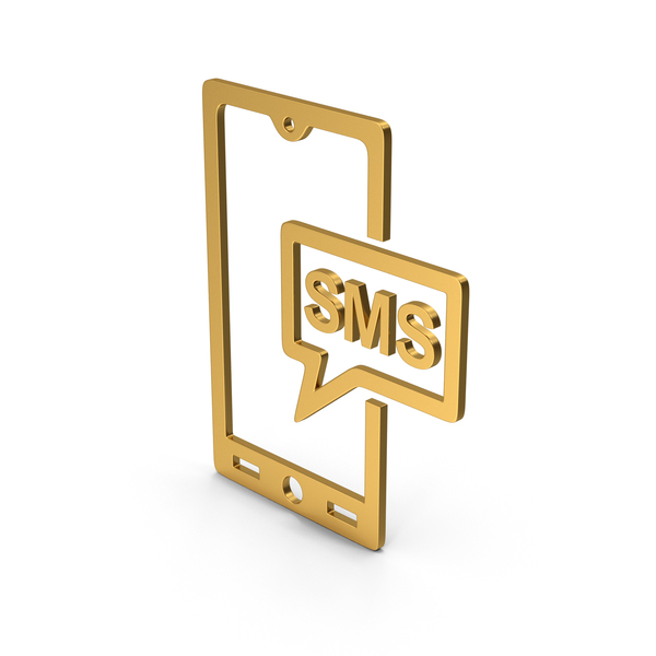 Computer Icon: Symbol SMS Message Gold PNG & PSD Images