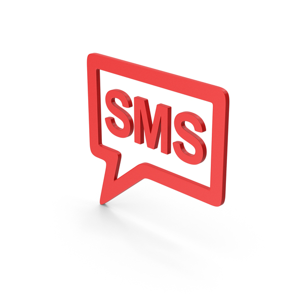 Computer Icon: Symbol SMS Message Red PNG & PSD Images