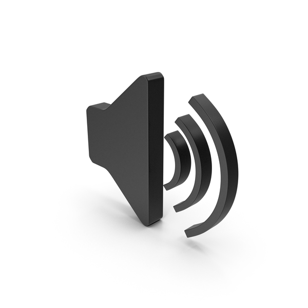 Computer Icon: Symbol Sound Black PNG & PSD Images