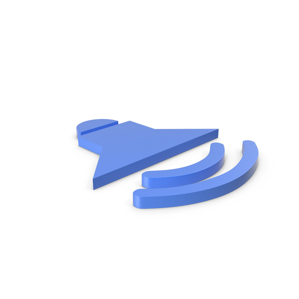 Computer Icon: Symbol Sound Blue PNG & PSD Images