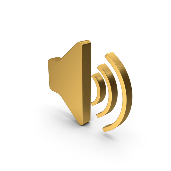 Computer Icon: Symbol Sound Gold PNG & PSD Images
