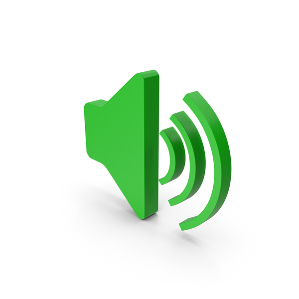 Computer Icon: Symbol Sound Green PNG & PSD Images