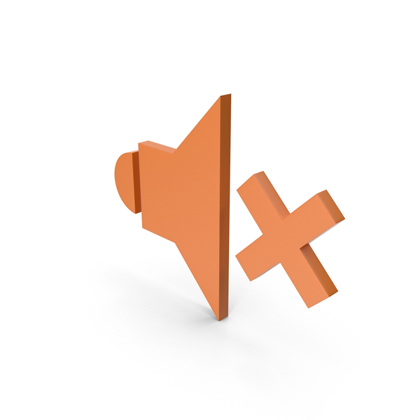 Computer Icon: Symbol Sound Orange PNG & PSD Images