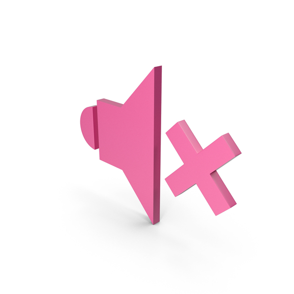 Computer Icon: Symbol Sound Pink PNG & PSD Images