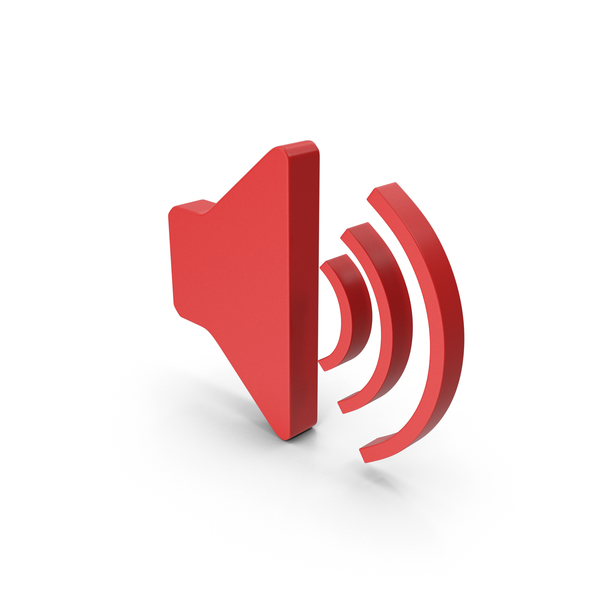 Computer Icon: Symbol Sound Red PNG & PSD Images