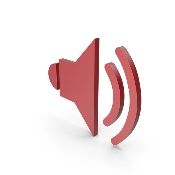 Tv Studio: Symbol Sound Red PNG & PSD Images