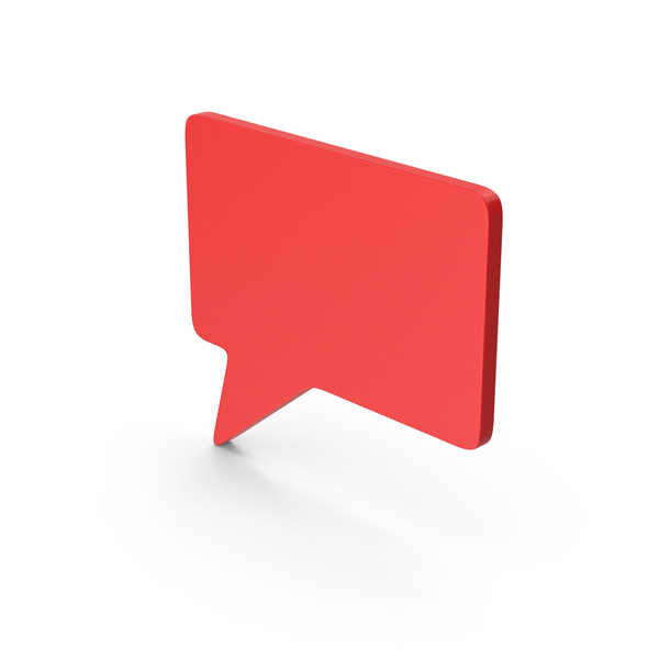 Balloon: Symbol Speech Bubble Red PNG & PSD Images