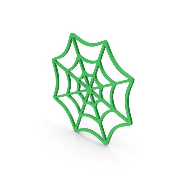 Symbols: Symbol Spider Web Green PNG & PSD Images