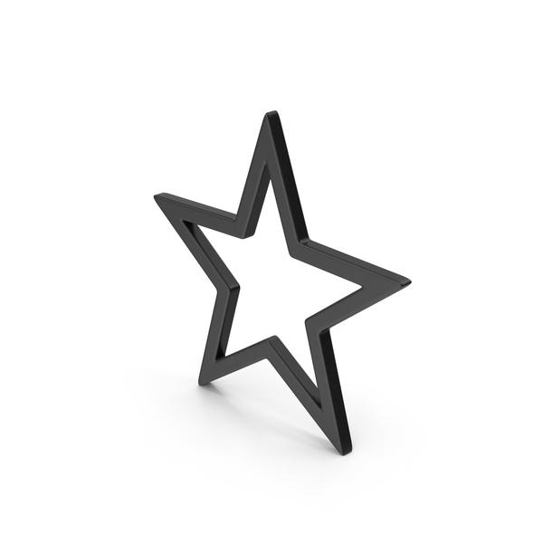 Symbol Star Black PNG & PSD Images