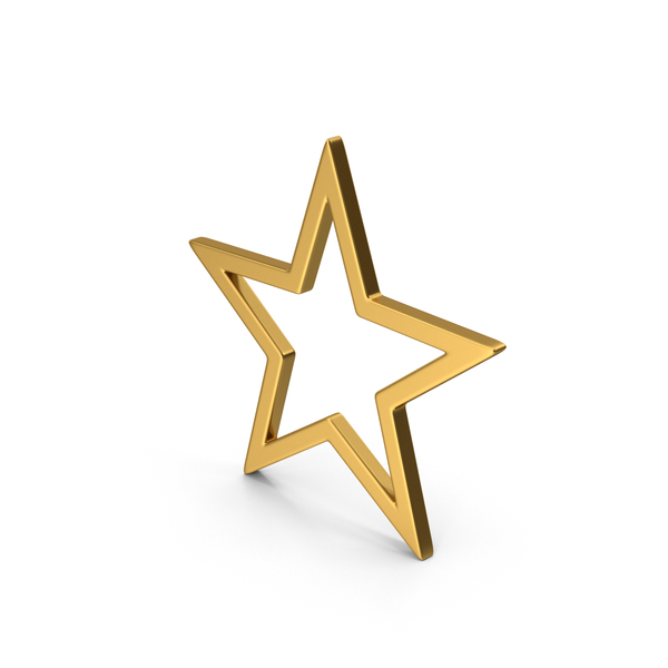 Logo: Symbol Star Gold PNG & PSD Images