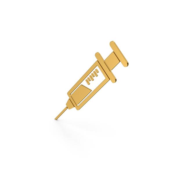 Icing: Symbol Syringe Gold PNG & PSD Images
