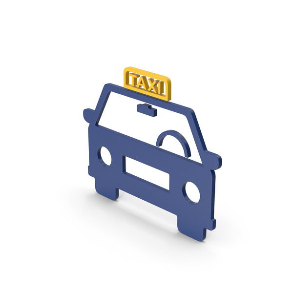Symbol Taxi Colored PNG & PSD Images