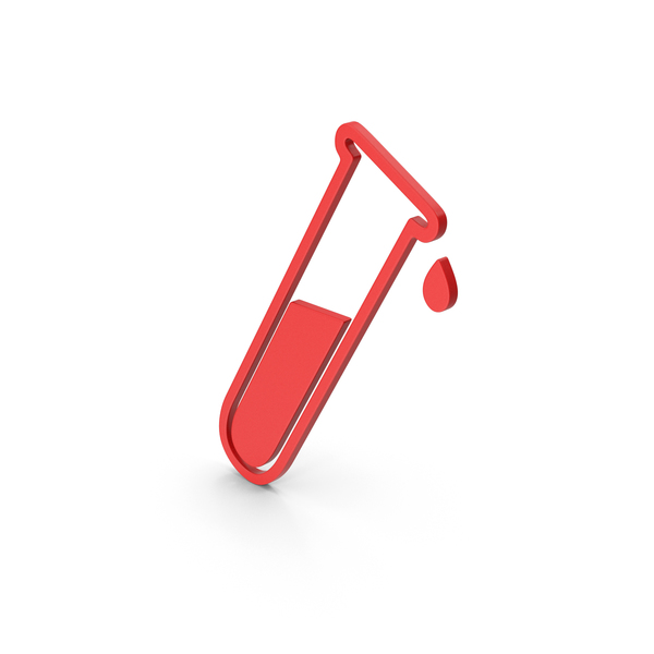Symbol Test Tube Red PNG & PSD Images