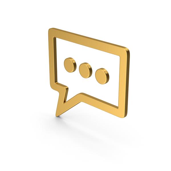 Symbols: Symbol Texting Gold PNG & PSD Images