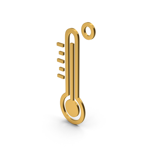 Industrial Equipment: Symbol Thermometer Gold PNG & PSD Images