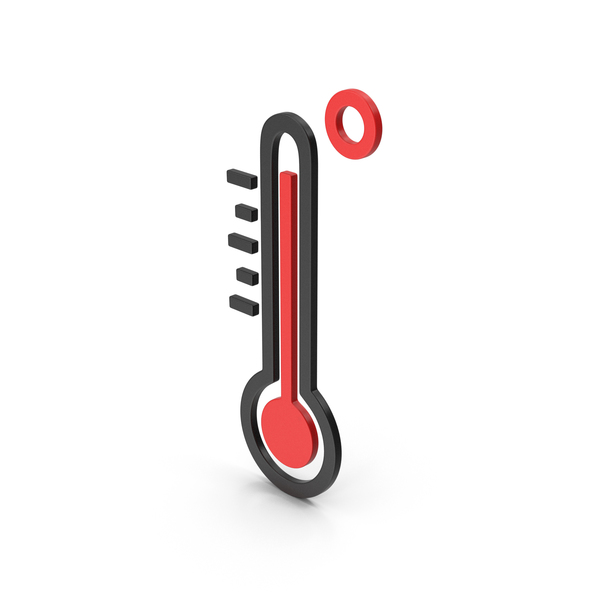Computer Icon: Symbol Thermometer High Temperature PNG & PSD Images