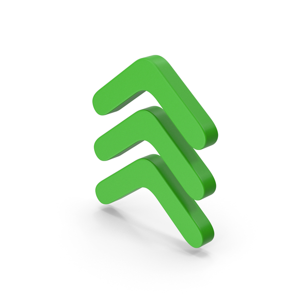 Directional Arrow: Symbol Three Arrows Green PNG & PSD Images